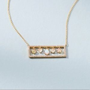 ✨NEW✨Anthropologie Opal Gemstone Bar Necklace